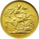 1902年エドワードⅦ世2ポンド金貨